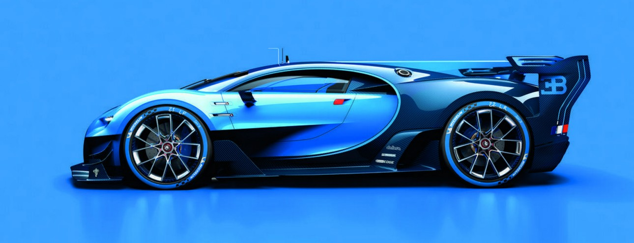 Bugatti Vision Gran Turismo: la Concept al Salone di Francoforte 2015.